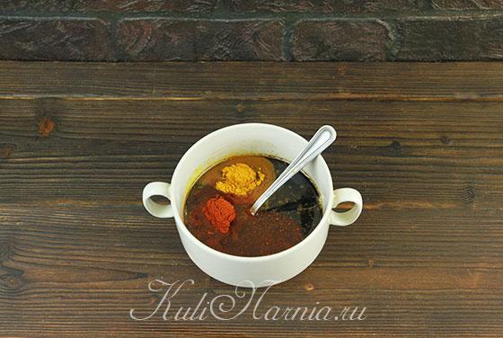 Ингредиенты для курицы в соевом соусе с медом