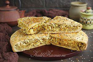 Пирог с капустой на кефире рецепт