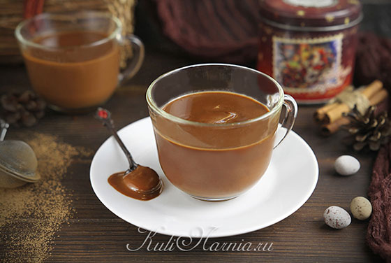 Горячий шоколад из какао готов