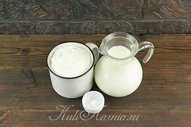 Ингредиенты для творожного сыра