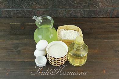 Ингредиенты для блинов на сыворотке