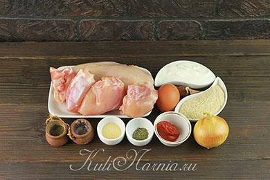 Ингредиенты для сочных куриных котлет