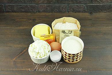 Ингредиенты для творожных булочке