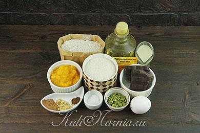 Ингредиенты для тыквенных сконов