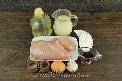 Ингредиенты для вареной колбасы из курицы