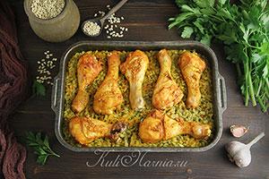 Перловка с курицей в духовке рецепт