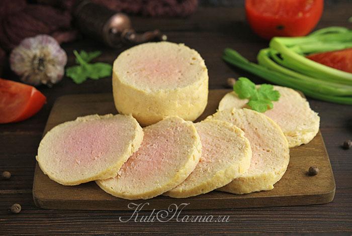 Вареная домашняя колбаса из курицы