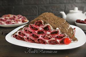 Блинный торт с творожным кремом рецепт