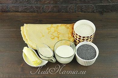 Ингредиенты для блинов с маком