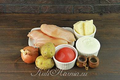 Ингредиенты для курицы по французски