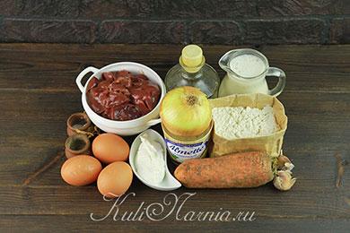 Ингредиенты для печеночных блинов