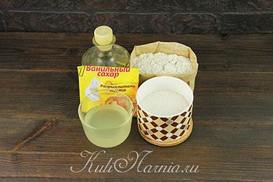 Ингредиенты для печенья на сыворотке