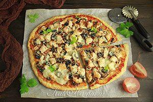 Пицца на творожном тесте без дрожжей рецепт