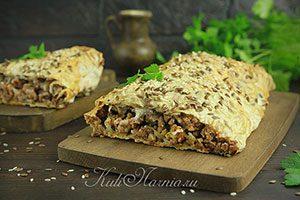 Пирог из лаваша с фаршем рецепт