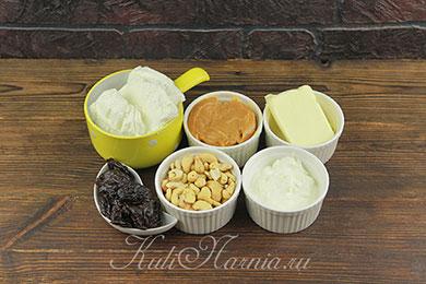 Ингредиенты для творожной пасхи с вареной сгущенкой