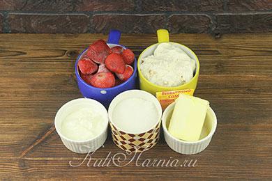 Ингредиенты для клубничной пасхи