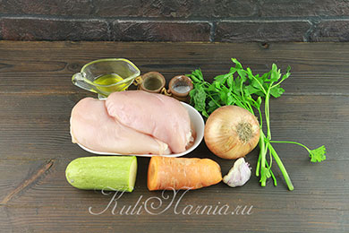 Ингредиенты для люля-кебаба из курицы