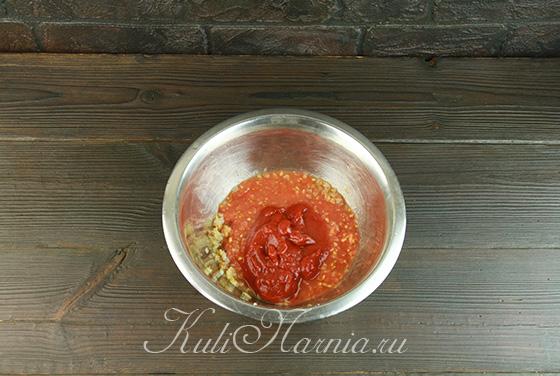 Делаем томатную заливку для фрикаделек