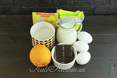 Ингредиенты для апельсинового мороженого
