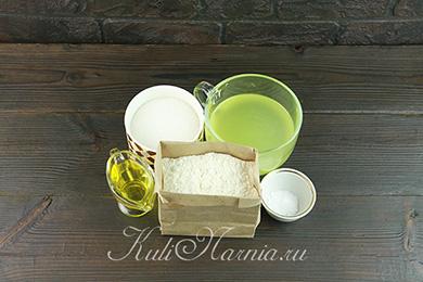 Ингредиенты для оладий на сыворотке