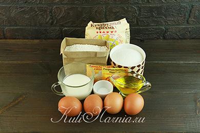 Ингредиенты для шифонового бисквита