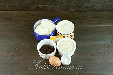 Ингредиенты для сырников с овсяной мукой