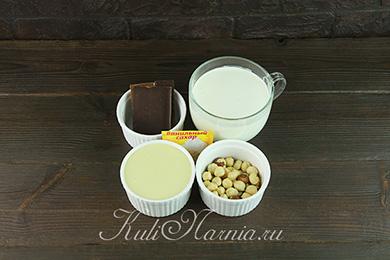 Ингредиенты для торта мороженого