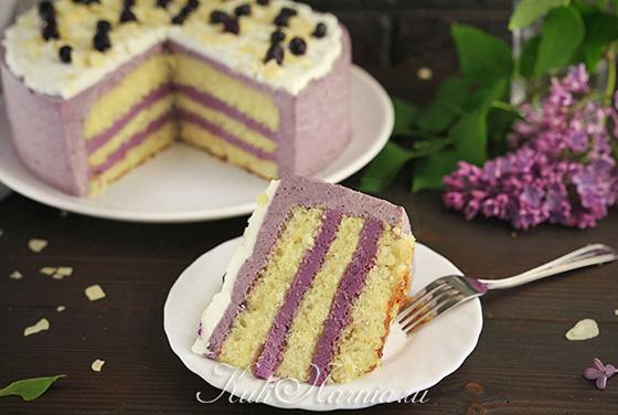 Черничный торт готов