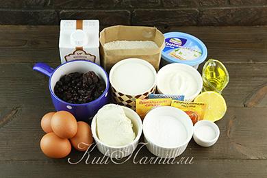 Ингредиенты для черничного торта