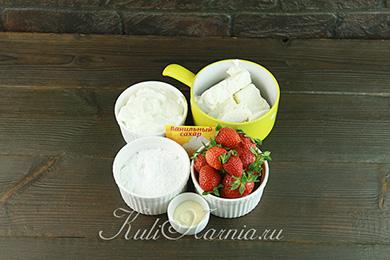 Ингредиенты для творожного десерта с желатином