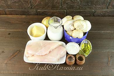 Ингредиенты для жулена на сковороде