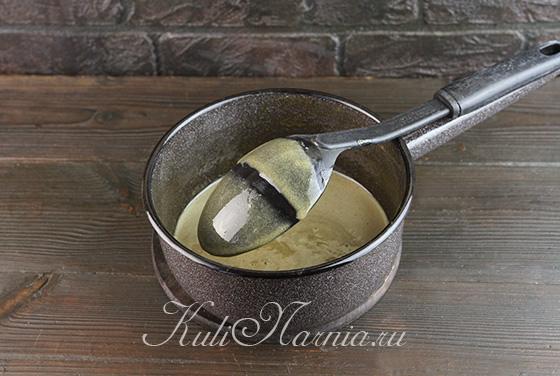 Готовность кофейного крема для мороженого