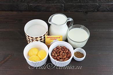 Ингредиенты для кофейного мороженого
