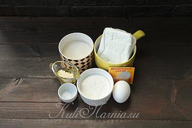 Ингредиенты для сырников с рисовой мукой