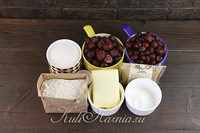 Ингредиенты для вишневого пая