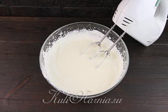 Добавляем желатин к грушевому крему