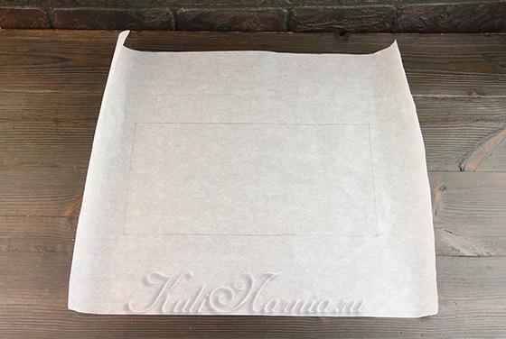 Рисуем шаблон на пергаментной бумаге
