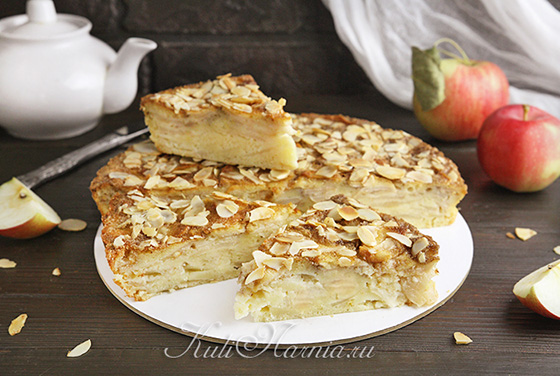 Французский яблочный пирог готов