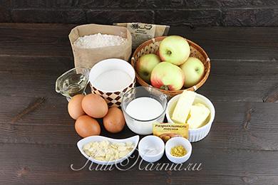 Ингредиенты для французского яблочного пирога