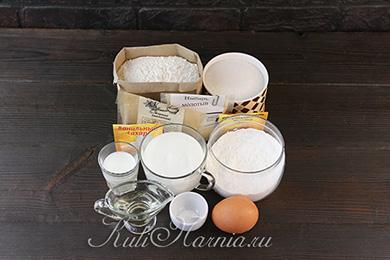 Ингредиенты для пряников на кефире