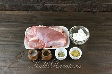 Ингредиенты для филе бедра индейки в духовке