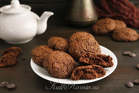 Шоколадное печенье готово