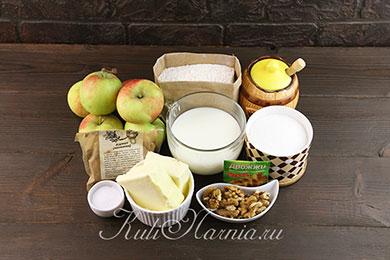 Ингредиенты для пирога с яблоками