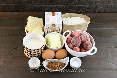Ингредиенты для пирожных шу