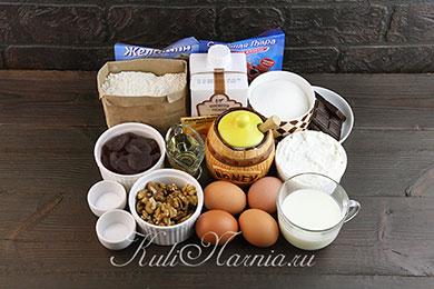 Ингредиенты для торта медовый пух