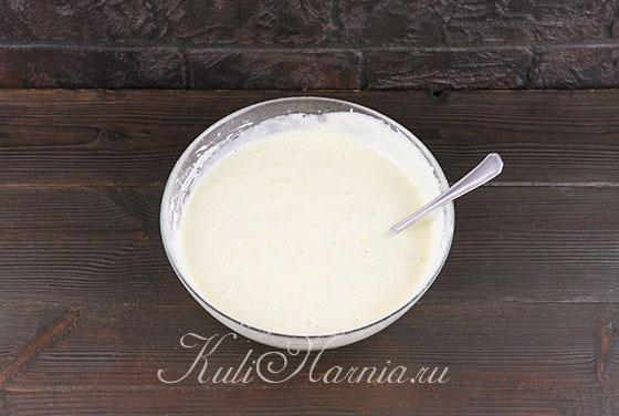 Добавляем мандариновые кусочки в тесто