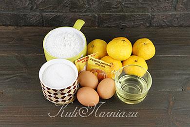 Ингредиенты для мандариновой шарлотки