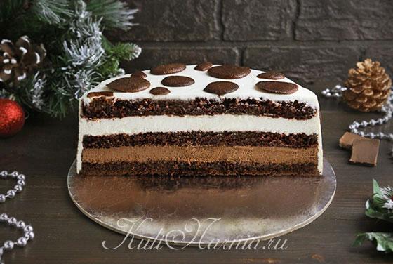 Торт буренка на новый год готов