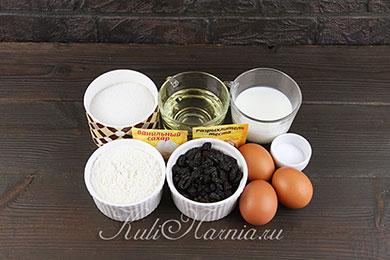 Ингредиенты для кексов на молоке