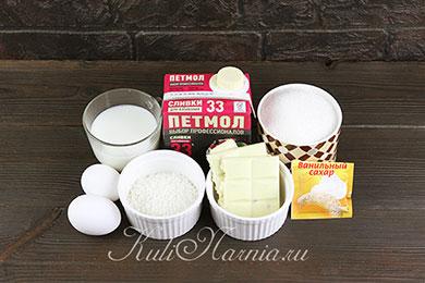 Ингредиенты для кокосового мороженого